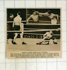 1920 JOHNNY Griffiths sconfigge la Francia di Carlo BOXE CARPENTIER Jules lenaers