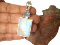MOONSTONE / Aquamarine  Sterling  Silver  925  Gemstone  PENDANT