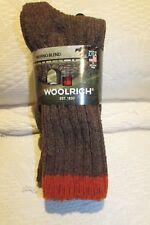 NWT Woolrich 2-Pair Wool Blend Tweed Outdoor Winter Socks Mens 9-12 Women 10-12