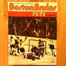 1972-73 Boston Bruins Yearbook ORR ESPO CHIEF CASH ACE BAILEY TURK Hockey Origin