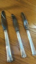 Set of 3 Cohr Sterling Silver Denmark Butter Knives~Lovely!