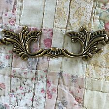"3"" Center French Provincial drawer pulls Shabby Chic handle metal dark brass NEW"