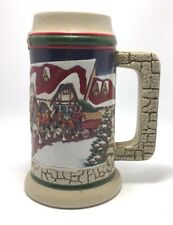 """1998 Budweiser """"Holiday Stein"""" w/ Clydesdales Un-used"""