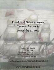 Daniel Frank Sedwick Treasure Auction 1, May 2007, shipwreck treasure coins cobs