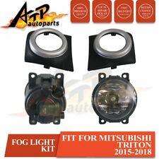 Fit Mitsubishi Triton MQ 2015-2018 Fog Lights Lamps Complete Kit W/ Free Bulbs