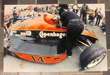 AJ FOYT Signed 20X30 Custom Photo GILMORE/COPENHAGEN Open Wheel Car COA