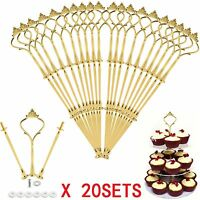 20x3Tier Cake Stand Centre Rod Handle Fittings Cupcake Muffin Plate Stand Fixing