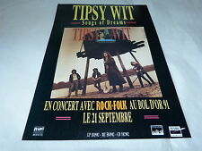 TIPSY WIT - Publicité de magazine / Advert SONGS OF DREAMS !!!!!