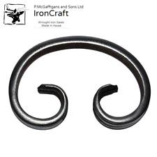 20 Plain Flat Bar C Scrolls Wrought Iron Gate Fence Railings 280mm x 170mm