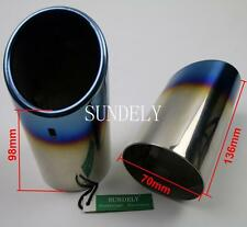2PCS Stainless Steel Exhaust Muffler Tip For VW JETTA VENTO MK6 Free Shipping
