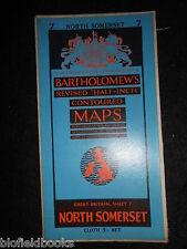 Vintage Bartholomew Half Inch Map of North Somerset - 1954 - Sheet 7 - Bristol