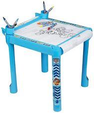 Paw patrol coloriage art table avec accessoires crayons marqueurs & rouleau de papier
