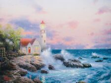 "THOMAS KINKADE ""Beacon of Hope"" Plate Signed Limited Edition Lithograph 16"" x 12"