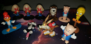 Lot of 10 Vintage PVC Looney Tunes - Arby's & Applause - Woody Woodpecker Porky