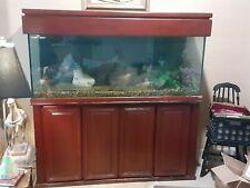 New listing Wood-accented Home Aquarium - 125 gallon