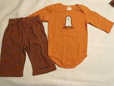 Gymboree Outlet 3-6 Month Cotton Long Sleeve Bodysuit Striped Cuff Hem Pant Set