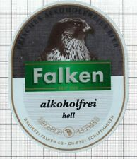 SWITZERLAND Brauerei Falken,Schaffhausen FALKEN Hell beer label C2261 002