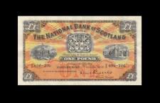 """1956 NATIONAL BANK OF SCOTLAND 1 POUND **RARE** """"B/P"""" (( EF+ ))"""