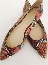 NINE WEST WOMENS FLATS SHOES SNAKE PRINT POINTY MAN MADE MATERIALS SZ 8