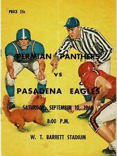 1960 ODESSA PERMIAN vs PASADENA High School FOOTBALL Program (Permian 2nd YEAR!)