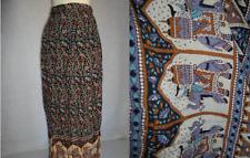 1970's 70's Vintage BoHo Hippy Bohemian Geeta India Gauze Wrap Skirt Elephants