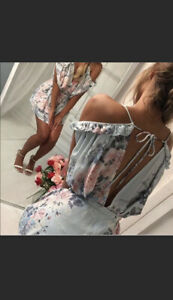 Womens Floral Sexy Jumpsuit Romper Dress