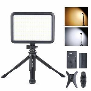 K&F Concept 204 LED Videoleuchte Videolicht mit Tischstativ für DSLR Kamera