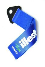 JDM High Strength Bride ILLEST Tow Strap for Front Rear Bumper Towing Hook-Blue