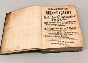 8669003 Buch Lehr- und Trostreiche Predigten v. 1718