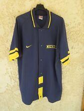 Maillot chemise baseball MICHIGAN NIKE MLB bleu marine shirt XL