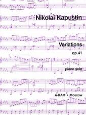 KAPUSTIN VARIATIONS Op41 Piano