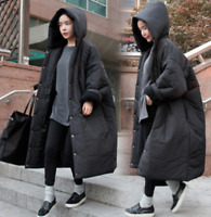 Women Puffer Long Oversize Coat Cotton Casual Warm Quilted Jacket Parka HOT B521