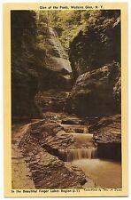 GLEN OF THE POOLS Watkins State Park NY SEPIA Postcard Vintage Finger Lakes