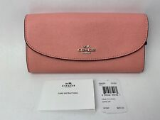 Coach F54009 Crossgrain Leather Slim Envelop Wallet in Blush - NEW