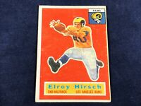H3-55 FOOTBALL CARD - ELROY HIRSCH LOS ANGELES RAMS - CARD #78- 1956 TOPPS