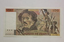 100 FRANCS DELACROIX 1990 BILLET FRANCE / FRANCIA.  VF