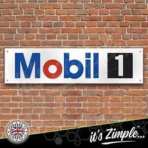 Mobil 1 Engine Oil Banner Garage Workshop Sign Printed PVC Trackside Display