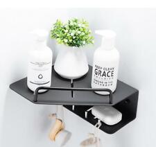 Black Space Aluminum Shower Caddy Bath Basket Storage Shelf Hanging Organizer