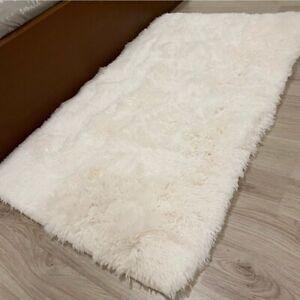 Fluffy Faux Fur Sheepskin Bedroom Area Rug Floor Carpet Small Mat Home Decor NEW