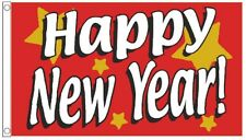 Happy New Year Christmas Banner 3'x2' Flag