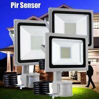 PIR Motion Sensor Flood Light Outdoor Spotlight Security Garden Lamp Waterproof
