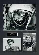 Yuri GAGARIN 16x12 Mounted Photo Cosmonaut Space Montage