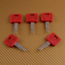 5PC Excavator Ignition Keys Fit for John Deere Hitachi H800 Some Case Dozer Fiat