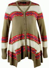 Modische Jacke aus Strickware Gr.48/50