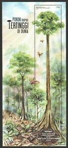 MALAYSIA 2020 WORLD TALLEST TROPICAL TREE MENARA YELLOW MERANTI SOUVENIR SHEET