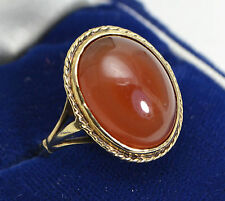 Agate Yellow Gold Vintage Fine Jewellery (1960s)