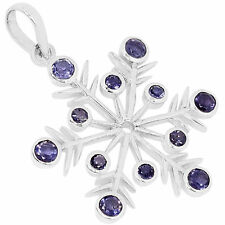 AAAP1418I 2.52cts IOLITE 925 STERLING SILVER PENDANT JEWELRY