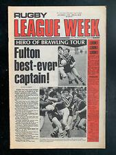 RUGBY LEAGUE WEEK Magazine Nov 1 1978 NRL QRL NSWRL newspaper Kangaroos