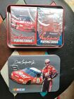 Dale Earnhardt Jr Budweiser #8 Twin Pack of Playing Cards Embossed Tin Case USA