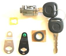GM Chevy GMC OEM Single Door Lock Key Cylinder Chrome 2 Chevy Logo Keys 7001071